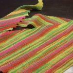 Hitchhiker aus der Wolle Lana Grossa Meilenweit Neon